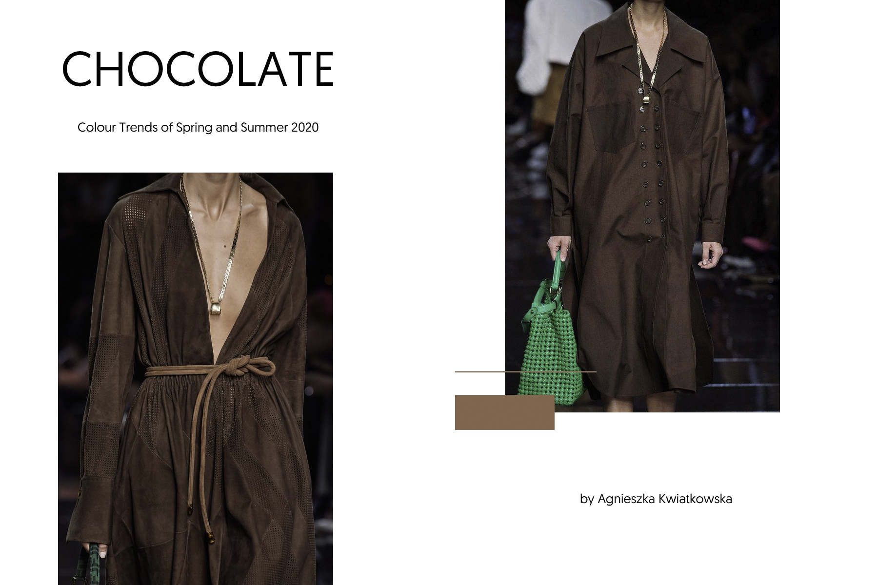 CHOCOLATE and BROWN color trends Spring and Summer 2020